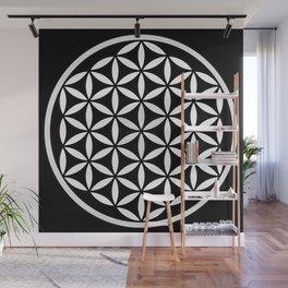 Flower of Life Yin Yang Wall Mural