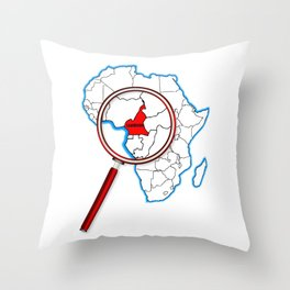 Cameroon Under A Magnifying Glass Throw Pillow