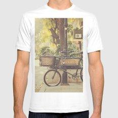 Bike I MEDIUM White Mens Fitted Tee