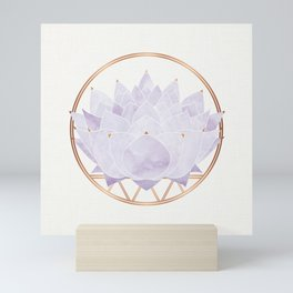 Lavender Lotus Blossom Mini Art Print