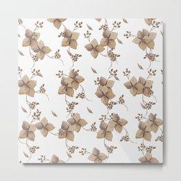 Hydrangea floral Metal Print