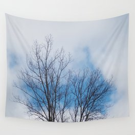 Patches of Blue Wall Tapestry