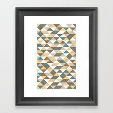 Triangle Pattern #2 Framed Art Print