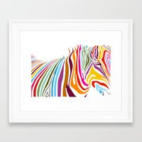 zebra Framed Art Prints featuring Zebra by graphicinvasion