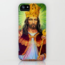 Jesus Poster Christ the King of Poland Polish Catholic Gift Present  iPhone Case