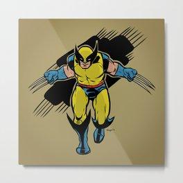 Logan :: X-Men Art Print Metal Print