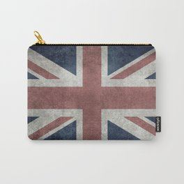 UK Flag, Retro Desaturated 1:2 scale Carry-All Pouch