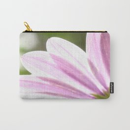 Pink African Daisy in the Light Carry-All Pouch