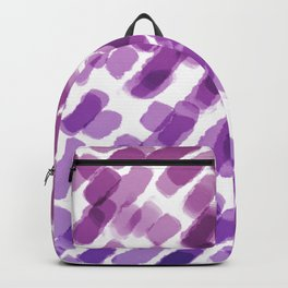 Purple Watercolor Brush Strokes Abdtraction Backpack