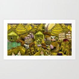 Batterland Art Print