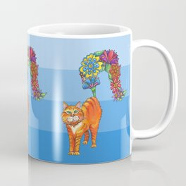 Three Blooming Kitties Coffee Mug