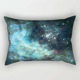 Teal Green Galaxy : Celestial Fireworks Rectangular Pillow