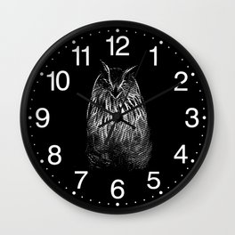 The smile of Mr. Owl Wall Clock