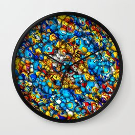 Rounded Colors Abstract Wall Clock