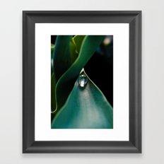 A drop caught Framed Art Print