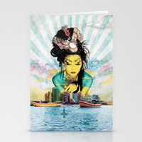 geisha Stationery Cards featuring Geisha by MATEO