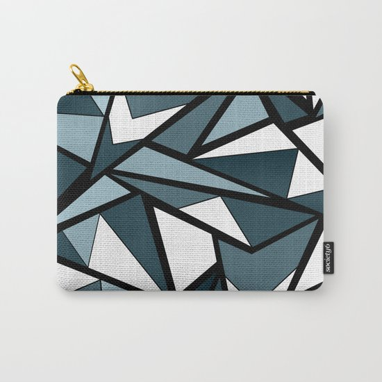Geometric pattern in grey and white tones . Carry-All Pouch