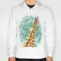 giraffes Hoodies featuring giraffes by Isabel Sobregrau