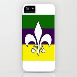 Mardi Gras Flag iPhone Case