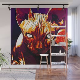 sphynx cat from hell va Wall Mural