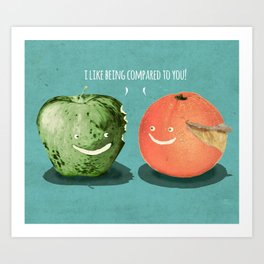 Apples to Oranges Art Print
