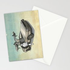 Stormtrooper in a DeLorean - waiting for the car club Stationery Cards