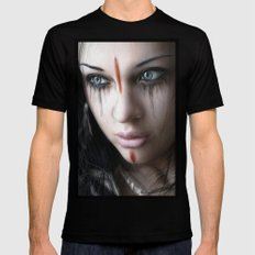 Edge of Her World Black MEDIUM Mens Fitted Tee