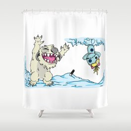 Echo Base Experiment 626 Shower Curtain