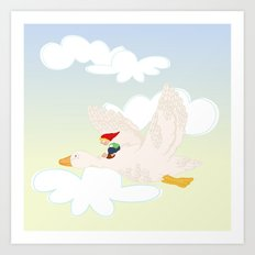 The Wonderful Adventures of Nils  Art Print