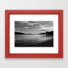 Isle of Kerrera beach B&W Framed Art Print