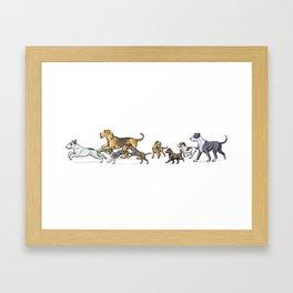 Trotting Terriers Framed Art Print