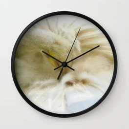 Beautiful White Peacock Wall Clock
