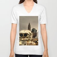 wall e V-neck T-shirts featuring Wall E? by BradBrunstetter