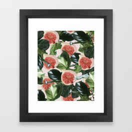 Figs & Leaves #society6 #decor #buyart Framed Art Print