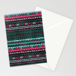 Colorful  Aztec Inca Mayan Pattern Stationery Cards