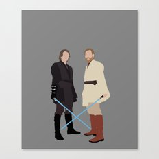 Anakin and Obi Star Wars Print Canvas Print