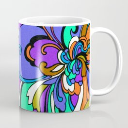 Swingin' 60s Textile Flowers Coffee Mug