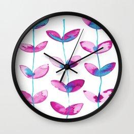 corazones enlazados magenta Wall Clock