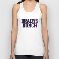 patriots Tank Tops featuring BRADY'S BUNCH by FanCity