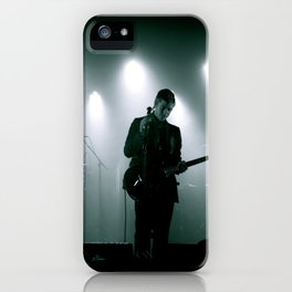 Paul Banks / Interpol at Terminal 5 New York City B&W iPhone Case