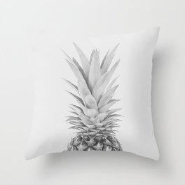 Pineapple a Day - black and white Throw Pillow