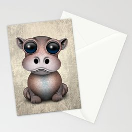 Cute Baby Hippo Stationery Cards