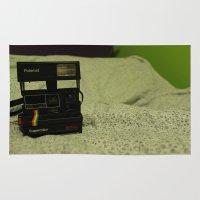 polaroid Area & Throw Rugs featuring Polaroid by Chloe Mailloux