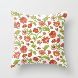 Rococo Floral Pattern #5 Throw Pillow