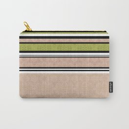 Multi-colored striped Carry-All Pouch