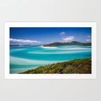 Blue Paradise Whitehaven Beach the Whitsunday Islands Art Print