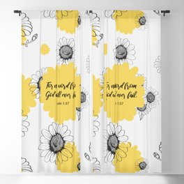 For no word from God will ever fail, Luke 1:37, Bible Verse Blackout Curtain