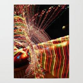 Abstract Xmas Lights Sculpting Poster