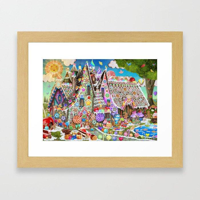 The Gingerbread Mansion Framed Art Print