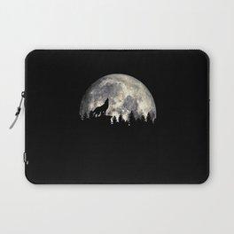 Wild Solitary Wolf Laptop Sleeve